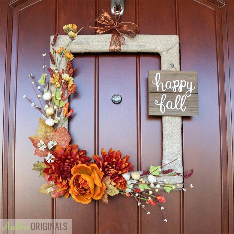 Fall wreath idea from Aubree Originals