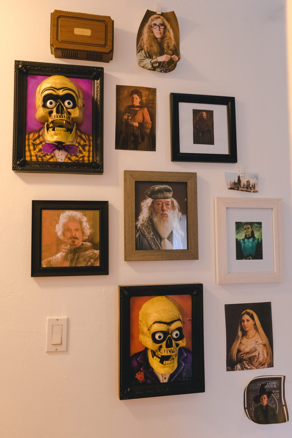 Gallery wall with Harry Potter characters