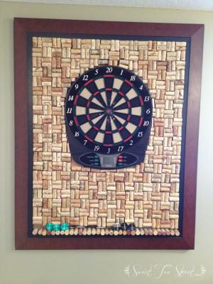 Wine cork dart board  Sweet Tea Street
