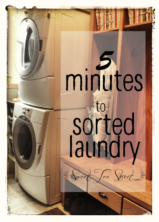 5 minutes to sorted laundry
