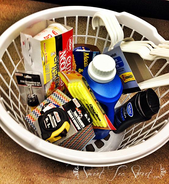 laundry basket grad gift