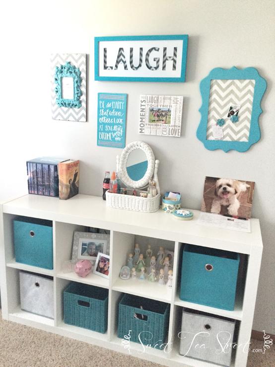 Bookshelf wall after