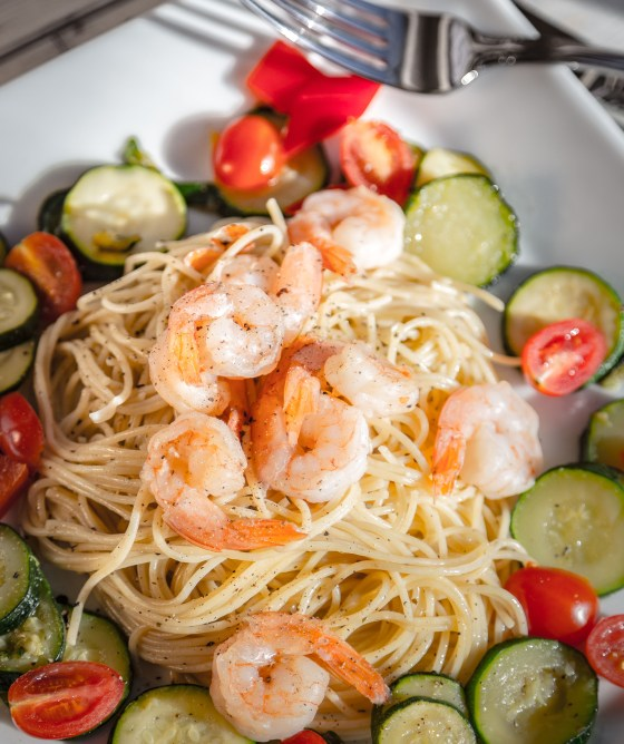 Shrimp and Angel Hair Pasta | www.sweetteasweetie.com