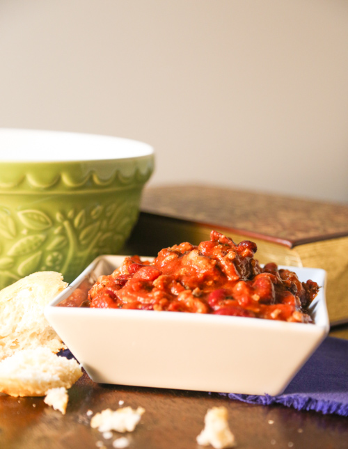 Crockpot Turkey Chili | www.sweetteasweetie.com