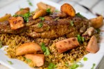 Apple & Garnacha Wine Sauce over Pork Tenderloin