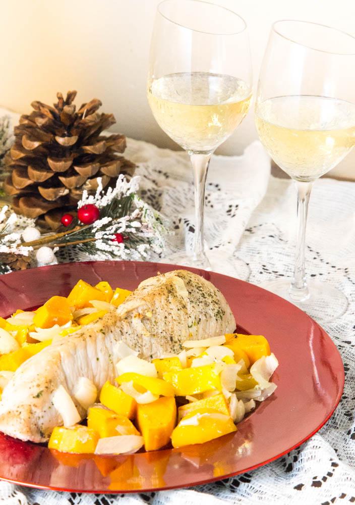 One Pan Pork Tenderloin Holiday Dinner | www,sweetteasweetie.com