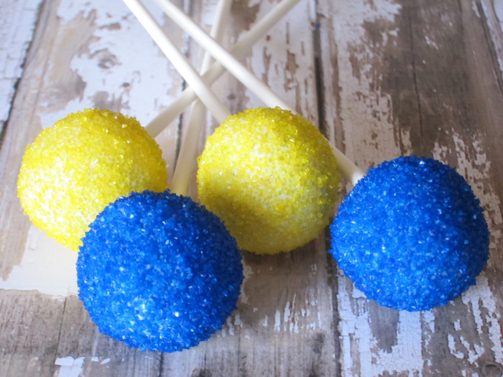 Navy  Yellow Red Velvet Graduation Cake Pops  SweetTemptationsme  Creative Confectionery