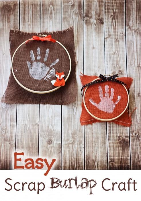 Scrap Burlap Handprint Craft Sweet T Makes Three