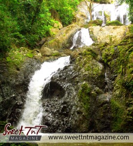Argyle Waterfall, Tobago, in sweet T&T for Sweet TnT Magazine, Culturama Publishing Company, for news in Trinidad, in Port of Spain, Trinidad and Tobago, with positive how to photography.