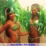 Chez Zen Mas, Carnival, green costume, feathers, bikini, brassiere, panty, beads, Business, Entrepreneurs in Trinidad and Tobago, Launch Rockit, Start-up Weekend, Start up, in sweet t&t for Sweet TnT Magazine