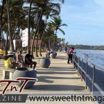 Manzanilla benches in sweet T&T for Sweet TnT Magazine, Culturama Publishing Company, for news in Trinidad, in Port of Spain, Trinidad and Tobago, with positive how to photography.