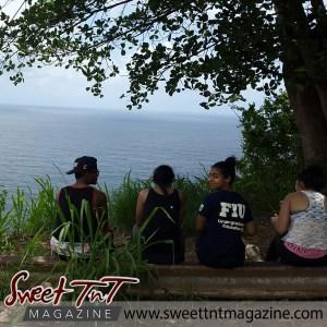 Trekkers take in natural beauty in Chaguaramas, Marika Mohammed.
