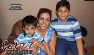 Unconditional love - Nerissa Hosein with her sons for article, Unconditional Love, a Mother's Love in Sweet TnT Magazine