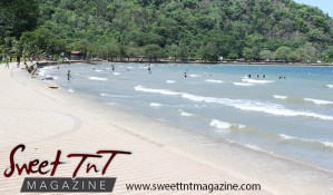 Landscape of mountains, shoreline, sea water waves at Chaguaramas in Sweet T&T, Sweet TnT Magazine, Trinidad and Tobago, Trini, vacation, travel Chaguaramas Boardwalk