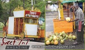 Tony coconut vendor, man, poem, Queen's Park Savannah, Sweet T&T, Sweet TnT, Trinidad and Tobago, Trini, vacation, travel,