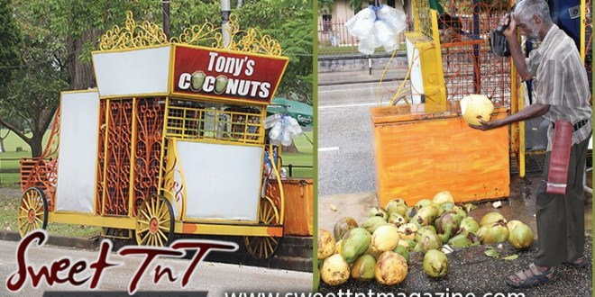 Tony coconut vendor, man, poem, Queen's Park Savannah, Sweet T&T, Sweet TnT, Trinidad and Tobago, Trini, vacation, travel,