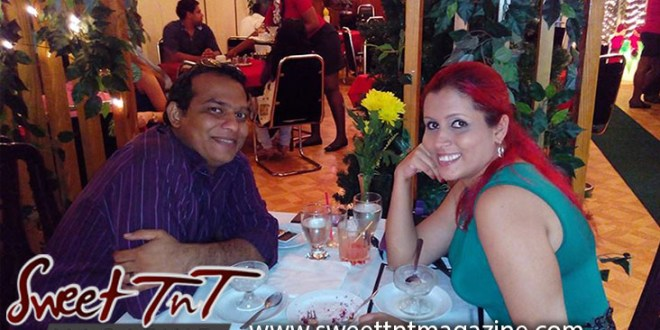 Date night all marriages need it Nerissa Hosein and husband at Valpark Chinese Restaurant, with red hair, purple shirt, blue top, yellow flower, having dinner, husband and wife in Sweet T&T, Sweet TnT Magazine, Trinidad and Tobago, Trini, vacation, travel