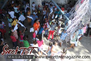 Special needs children dance at party at Easter Bonnet parade at Queen's Park Cricket Club, color eggs, Sweet T&T, Sweet TnT, Trinidad and Tobago, Trini, vacation, travel