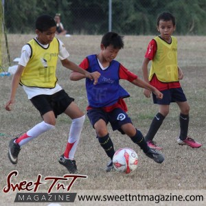 Children tackle, Football Factory, St Mary's college, CIC grounds, Terry Fenrick, sports in T&T, Sweet T&T, Sweet TnT, Trinidad and Tobago, Trini, vacation, travel