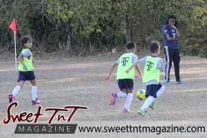 Coach observe children playing football, Football Factory, St Mary's college, CIC grounds, Terry Fenrick, sports in T&T, Sweet T&T, Sweet TnT, Trinidad and Tobago, Trini, vacation, travel