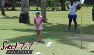 learning golf at St Andrew's Golf Club in sweet T&T for Sweet TnT Magazine, Culturama Publishing Company, for news in Trinidad, in Port of Spain, Trinidad and Tobago, with positive how to photography.