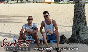 Guys on Maracas the popular beach eating bake and shark, Sweet T&T, Sweet TnT, Trinidad and Tobago, Trini, vacation, travel