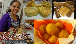 Christmas with Marina Rivas, macaroni pie, black cake, Ponche de Crème, pastelles, sorrel, ginger beer, mauby, fresh breads, sweet fruitcakes, crusty pies and sweetbreads, bake, food, Arima, Lopinot, Santa Cruz and Maracas, Ah want ah piece ah pork by Scrunter, by Kielon Hilaire in Sweet T&T, Sweet TnT Magazine, Trinidad and Tobago, Trini, vacation, travel
