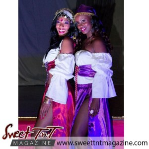 Models in pink and purple Arabian wear, Chad Wilson's photography, models, Sweet T&T, Sweet TnT, Trinidad and Tobago, Trini, vacation, travel