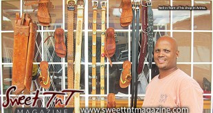 Neil Audain, leather sandals, belts, poya, bags, Arima vendor, Omilla Mungroo, Sweet T&T, Sweet TnT, Trinidad and Tobago, Trini, vacation, travel