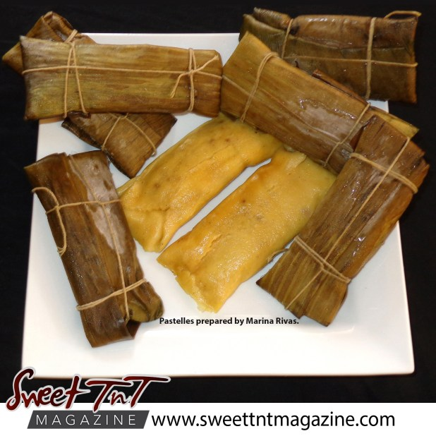 Christmas with Marina, pastelles in sweet T&T for Sweet TnT Magazine, Culturama Publishing Company, for news in Trinidad, in Port of Spain, Trinidad and Tobago, with positive how to photography.