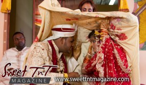 Sindoor is applied to wife Felesha by her husband Ashook Parboo, Indian wedding. Photos by A Williams Photography, Sweet T&T, Sweet TnT, Trinidad and Tobago, Trini, vacation, travel