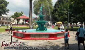 Fountain at Woodford Square, 1917, 100 years in 2017, Sweet T&T, Sweet TnT, Trinidad and Tobago, Trini, Travel, Vacation, Tourist,