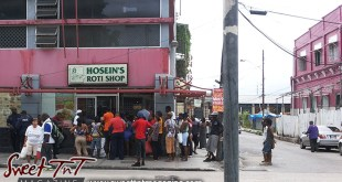 Hosein, Hosein's Roti Shop, Port of Spain, Henry Street, Curepe taxi stand, lines, Food, Sweet T&T, Sweet TnT, Trinidad and Tobago, Trini, Travel, Vacation, Tourist, Roti Shops