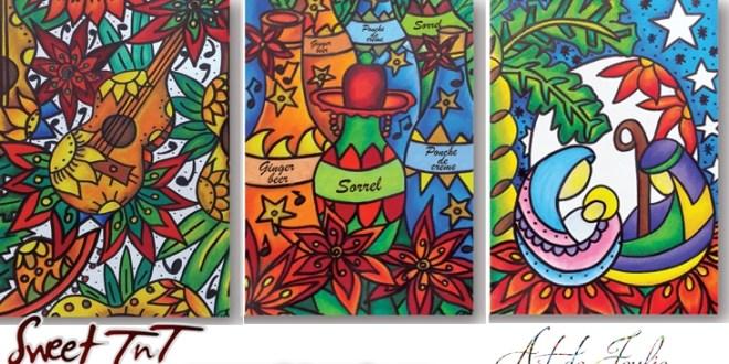 Christmas Cards, Art de Joulie, Sorrel, Parang Sweet T&T, Sweet TnT, Trinidad and Tobago, Trini,