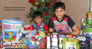 Muslim home Christmas, presents, gifts, toys, Christmas tree, children, home, Sweet T&T, Sweet TnT, Trinidad and Tobago, Trini,