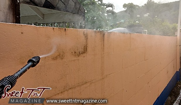 power wash, wall, for Christmas, To do list, Christmas, Sweet T&T, Sweet TnT, Trinidad and Tobago, Trini,