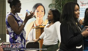 Ladies discuss ideas on day 1 at Launch Rockit business in sweet t&t for Sweet TnT Magazine in Trinidad and Tobago