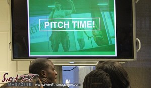 Pitch time on screen at Launch Rockit business in 54 hours in sweet t&t for Sweet TnT Magazine in Trinidad and Tobago