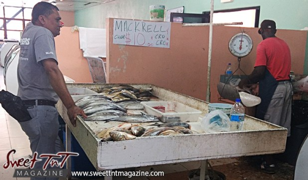 Fish in market for eat less seafood if pregnant and food fraud articles in sweet T&T for Sweet TnT Magazine, Culturama Publishing Company, for news in Trinidad, in Port of Spain, Trinidad and Tobago, with positive how to photography.