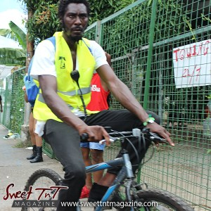 Trinidad and Tobago Carnival Bicycle security on Ariapita Avenue, Carnival 2017 in sweet T&T for Sweet TnT Magazine, Culturama Publishing Company, for news in Trinidad, in Port of Spain, Trinidad and Tobago, with positive how to photography.