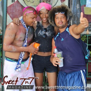 Trinidad and Tobago Carnival Jouvert revellers on Ariapita Avenue, Carnival 2017 in sweet T&T for Sweet TnT Magazine, Culturama Publishing Company, for news in Trinidad, in Port of Spain, Trinidad and Tobago, with positive how to photography.