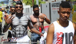 Trinidad and Tobago Carnival Mas men on Ariapita Avenue, Carnival 2017 in sweet T&T for Sweet TnT Magazine, Culturama Publishing Company, for news in Trinidad, in Port of Spain, Trinidad and Tobago, with positive how to photography.