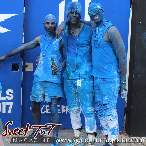 Masqueraders pose at Big Black Box, Murray Street, Carnival 2017 in sweet T&T for Sweet TnT Magazine, Culturama Publishing Company, for news in Trinidad, in Port of Spain, Trinidad and Tobago, with positive how to photography.