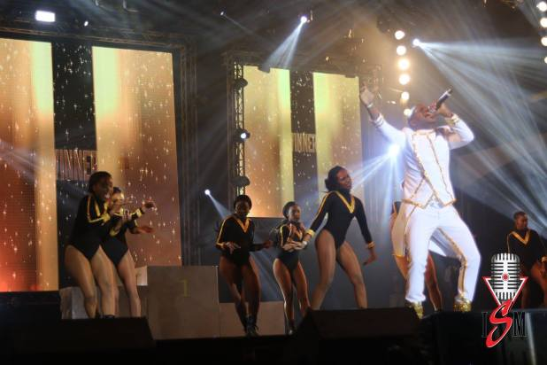 Voice, during his 2016 International Soca Monarch performance of the song Winner.