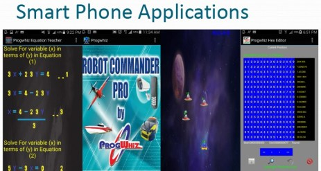 Smart phone applications by Prog Whiz for phone app article