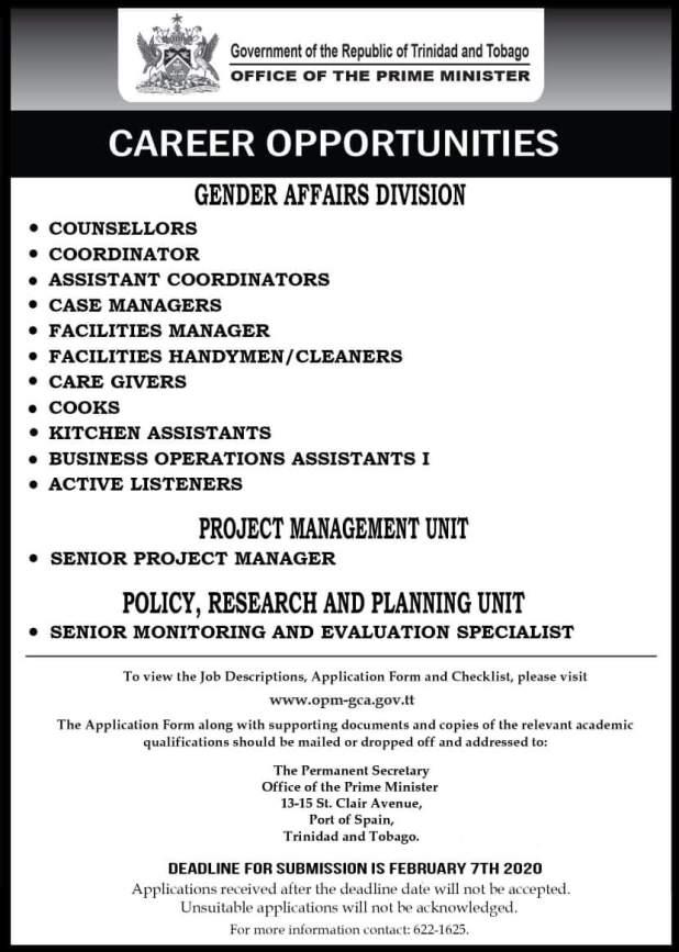 Government Vacancies January 2020