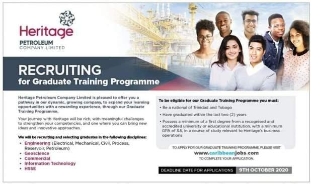 Heritage Graduate Training Programme