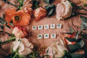 May month. Nature love people flowers