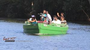 Boat ride on Caroni River, Caroni Bird Sanctuary, Trinidad. Travel gadgets.