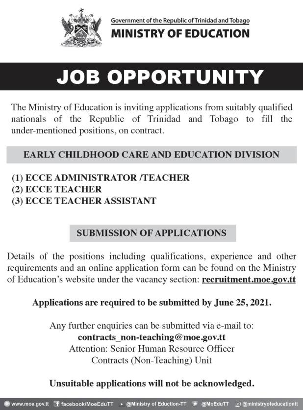 Careers in the Ministry of Education